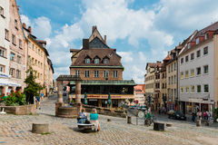 View of the Old Town architecture in Nuremberg, Germany Royalty Free Stock Photography