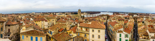 View of the old town of Arles from the Roman arena Royalty Free Stock Photo