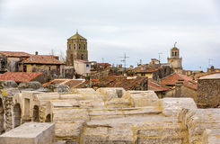 View of the old town of Arles from the Roman arena Royalty Free Stock Photography