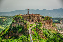 View of the old town of Bagnoregio Stock Photography