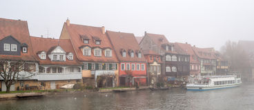 View of the old town of Bamberg in Bavaria Royalty Free Stock Photography