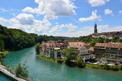 View of the old town of Bern Stock Photography