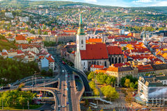 View on the old town of Bratislava city Royalty Free Stock Photo