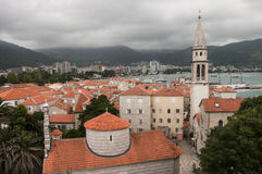 View of the old town of Budva Stock Photography