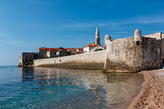 View of the old town of Budva, Montenegro Stock Photos