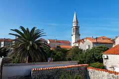 View of the old town of Budva, Montenegro Stock Image