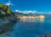 View of the old town of Budva Royalty Free Stock Photo