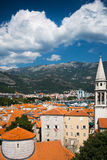View on old town of Budva. Montenegro, Balkans Royalty Free Stock Photo