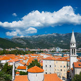 View on old town of Budva, Montenegro Royalty Free Stock Photos