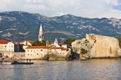 View of the old town of Budva in Montenegro Stock Photo