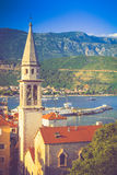 View of the old town of Budva in summertime. Montenegro. Royalty Free Stock Photography