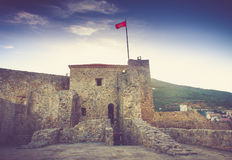 View of the old town of Budva in summertime. Montenegro. Royalty Free Stock Images