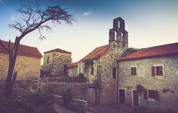 View of the old town of Budva in summertime. Montenegro. Stock Image
