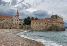 View of Old Town Budva in winter. Montenegro Stock Photos