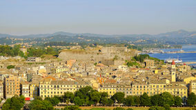 View on old town of the capital of Corfu, Greece. Stock Images