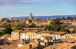 View of the old town of Carcassonne - France Stock Image