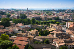 View of the old town Carcassonne, France. Royalty Free Stock Photography