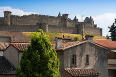View of the old town Carcassonne, Southern France. Stock Photography