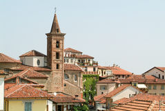 View of the old town centre in Rivoli Royalty Free Stock Photo