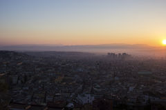 View on Old Town and Centro Direzionale in Naples, Italy Royalty Free Stock Photography