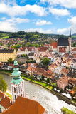 View on the Old Town Cesky Krumlov Stock Photos