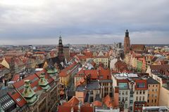 Wroclaw. View on old town in city Wroclaw Stock Images