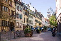 A view in the old town of Colmar city. Alsace, France Royalty Free Stock Image