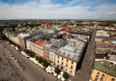 View of the old town of Cracow Stock Photos