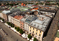 View of the old town of Cracow Royalty Free Stock Photography