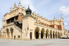 View of the old town of Cracow, old Sukiennice, Poland Royalty Free Stock Image