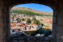 View at The Old Town of Dubrovnik from Fort Lovrijenac, Dubrovnik, Croatia Royalty Free Stock Photography