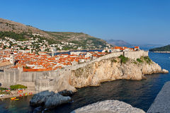 View at The Old Town of Dubrovnik from Fort Lovrijenac, Dubrovnik, Croatia Stock Photography