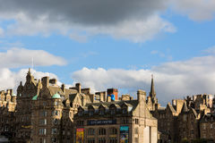 View of the old town of Edinburgh, Scotland, UK Royalty Free Stock Image