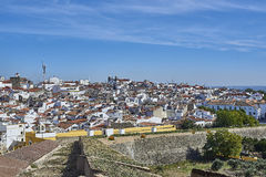 View of the old town of Elvas, Alentejo, Portugal. Stock Images