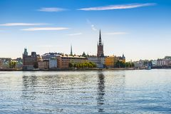 View of the Old Town or Gamla Stan in Stockholm, Sweden Royalty Free Stock Photos