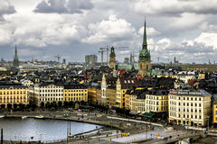 View of the old town Gamla Stan in Stockholm.Sweden. Stock Photography