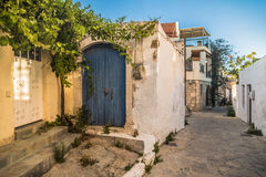 View of old town on island of Crete royalty free stock photography