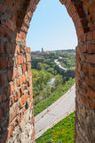 View of the Old Town of its loopholes. At Kamyanets-Podilsky, Ukraine Royalty Free Stock Photos