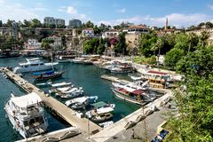 View of the old town of Kaleici in Antalya .Turkey. stock photography