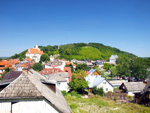 View of the old town of Kazimierz Dolny on the Wisla River in Po Stock Images