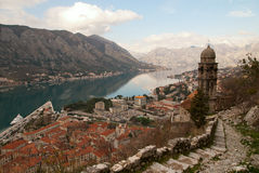 View of the old town of Kotor. Royalty Free Stock Photo