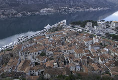 View of the old town of Kotor. Stock Image