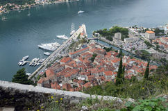 A view of Old Town of Kotor Stock Photography