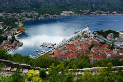 View of the old town of Kotor, Montenegro Royalty Free Stock Photos