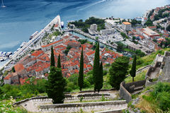 View of the old town of Kotor, Montenegro Stock Photo