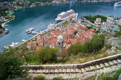 View of the Old Town. Of Kotor, Montenegro Stock Image