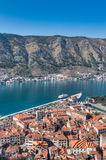 View of the old town of Kotor, Montenegro stock image