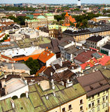 View of the old town of Kracow Royalty Free Stock Images