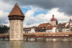 View of the old town of Lucerne Stock Photo
