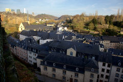 View on the Old Town of Luxembourg Stock Photos